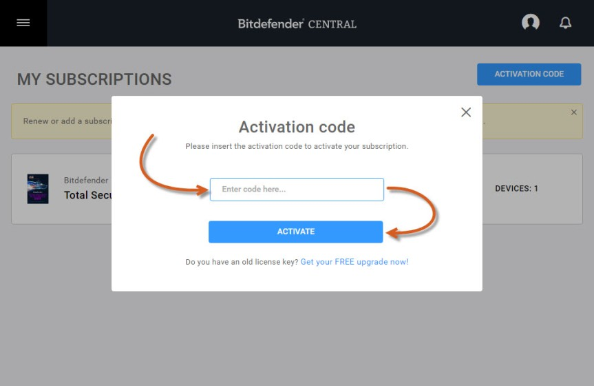 bitdefender 2018 activation code free